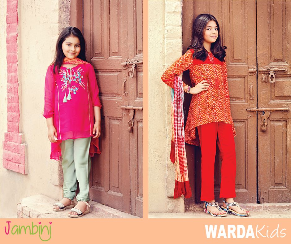 warda kids latest summer collection 2016 2017 by jambini catalog. Black Bedroom Furniture Sets. Home Design Ideas