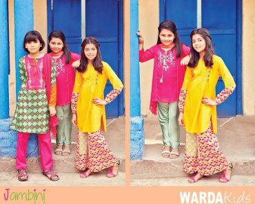 Warda kids Latest Summer Collection 2016-2017 By Jambini Catalog