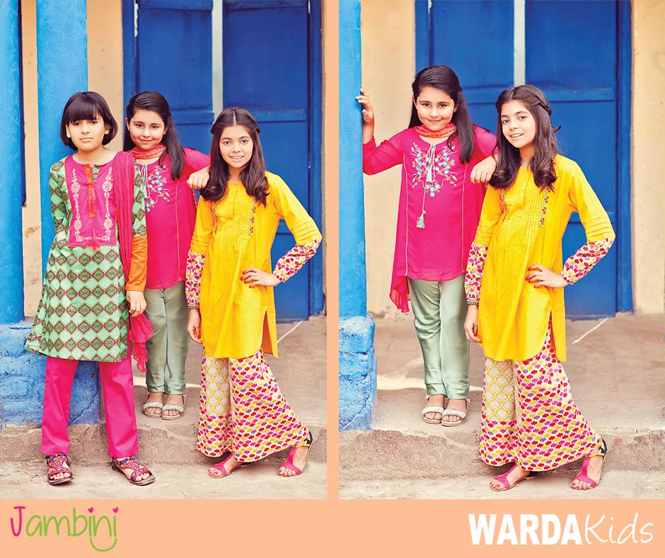a8f98da92061 Warda kids Latest Summer Collection 2016-2017 By Jambini Catalog