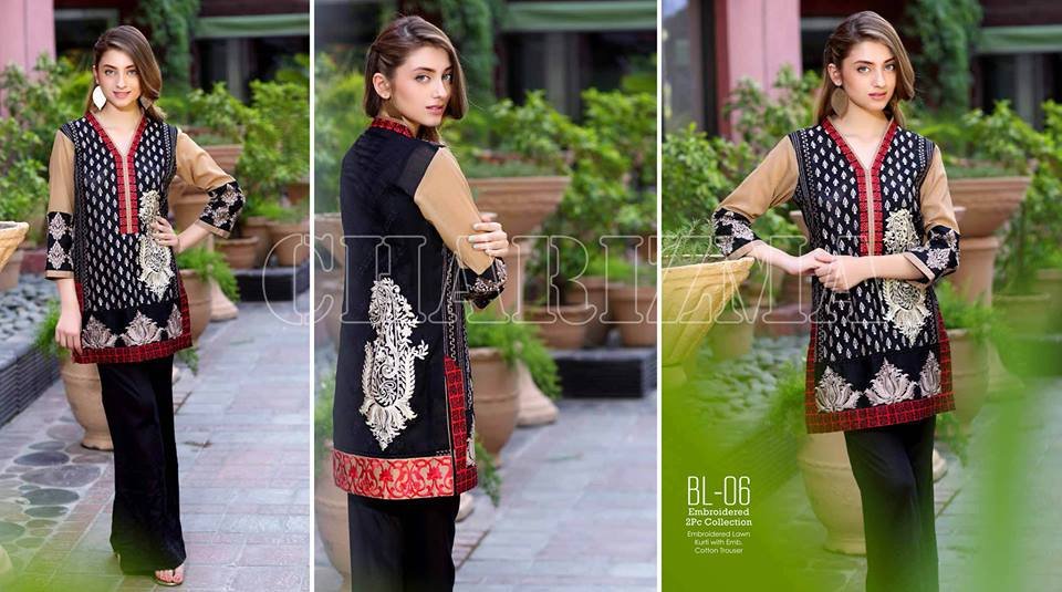 Belle 2 Piece Embroidered Lawn Collection By Charizma Eid Festival