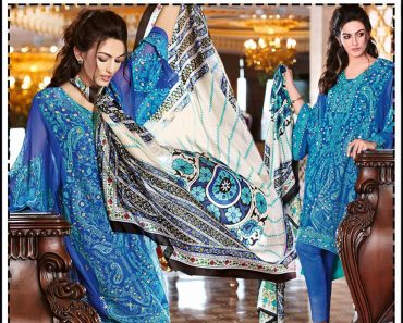 GulAhmed Festive Eid2016 Unstitched Embroidered Chiffon