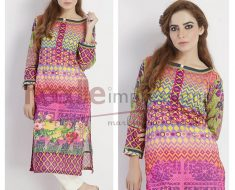 Needle Impression Eid Printed & Embroidered Collection 2016