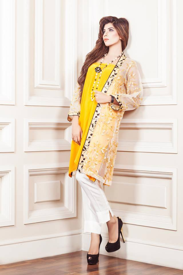 Wonderful Women Eid Kurta Design 2016 Latest Collection Image Gallery