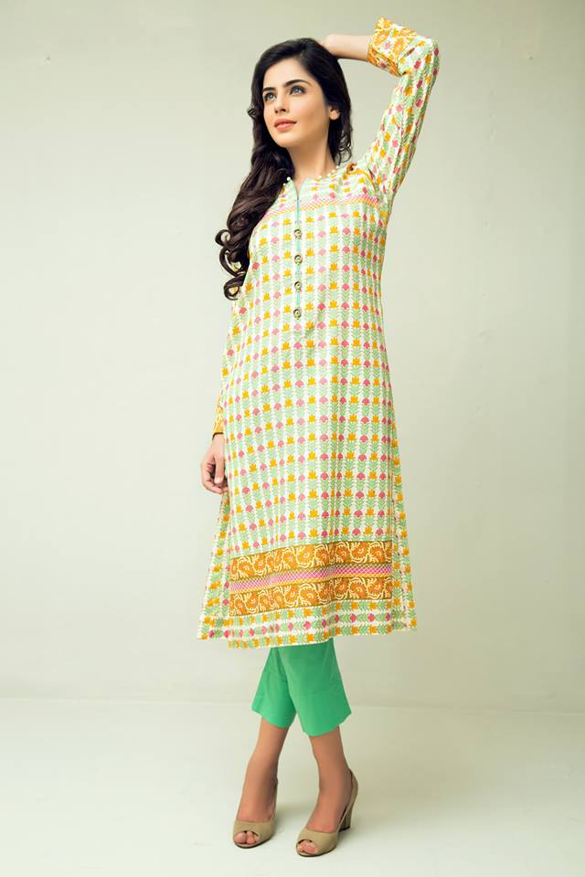 Brilliant Orange Kurta Pajama Dress Design For Women