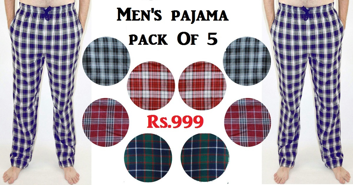 Men's Night Wear Pajama Pack Of 5 Collection