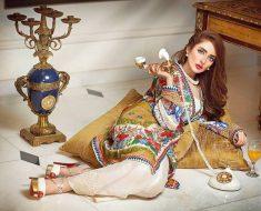 Zahra Ahmad New Stylish Dresses Chiffon & Lawn Gown