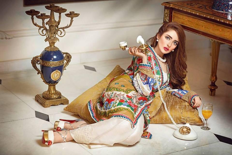 d7e6f081684 Zahra Ahmad New Stylish Dresses Chiffon & Lawn Gown