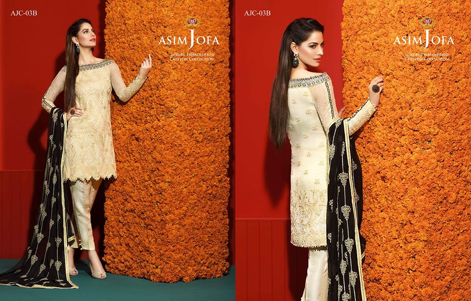 Asim Jofa Luxury Embroidered Chiffon Collection 2016