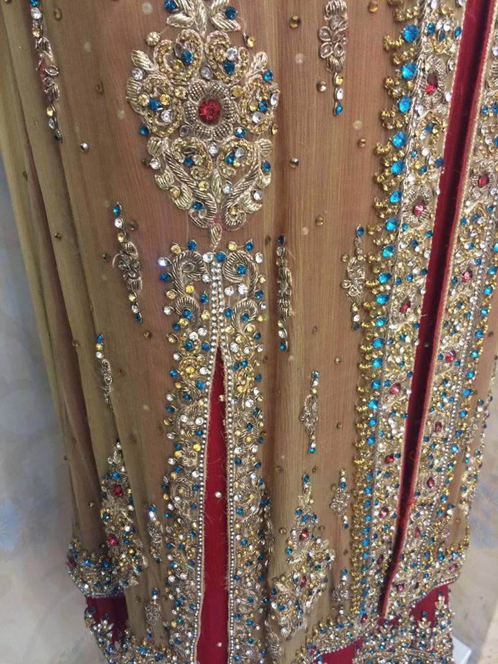 Zara boutique Bridal Wear Latest Embroider Frock Collection