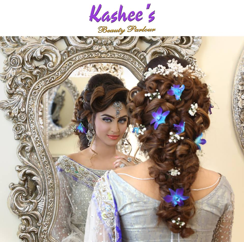 parlour hair styles kashees beautiful bridal hairstyle amp makeup parlour 7059