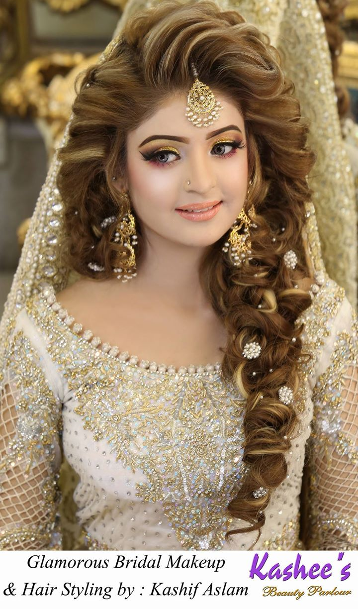 look hair style kashees beautiful bridal hairstyle amp makeup parlour 8075
