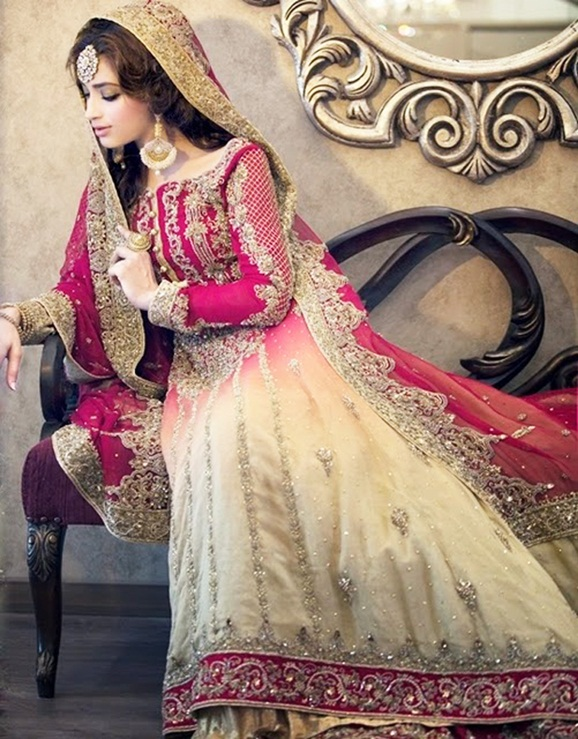 Latest new pakistani bridal lehenga dresses collection for Online pakistani wedding dresses