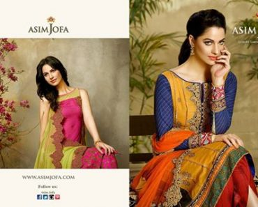 Luxury Embroidered Chiffon Collection By Asim Jofa