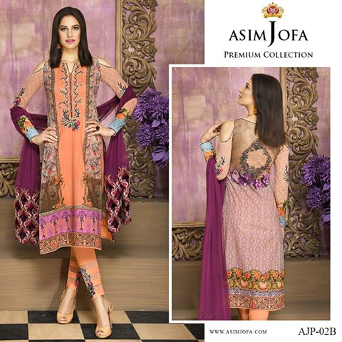 Asim Jofa Latest Premium Luxury Lawn Winter Dress Collection 2017