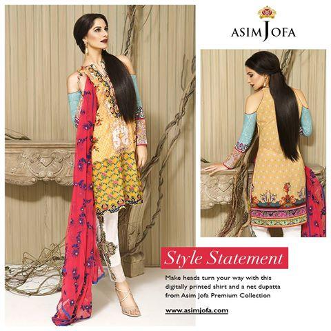 Asim Jofa Latest Premium Luxury Lawn Winter Dress Collection 2017