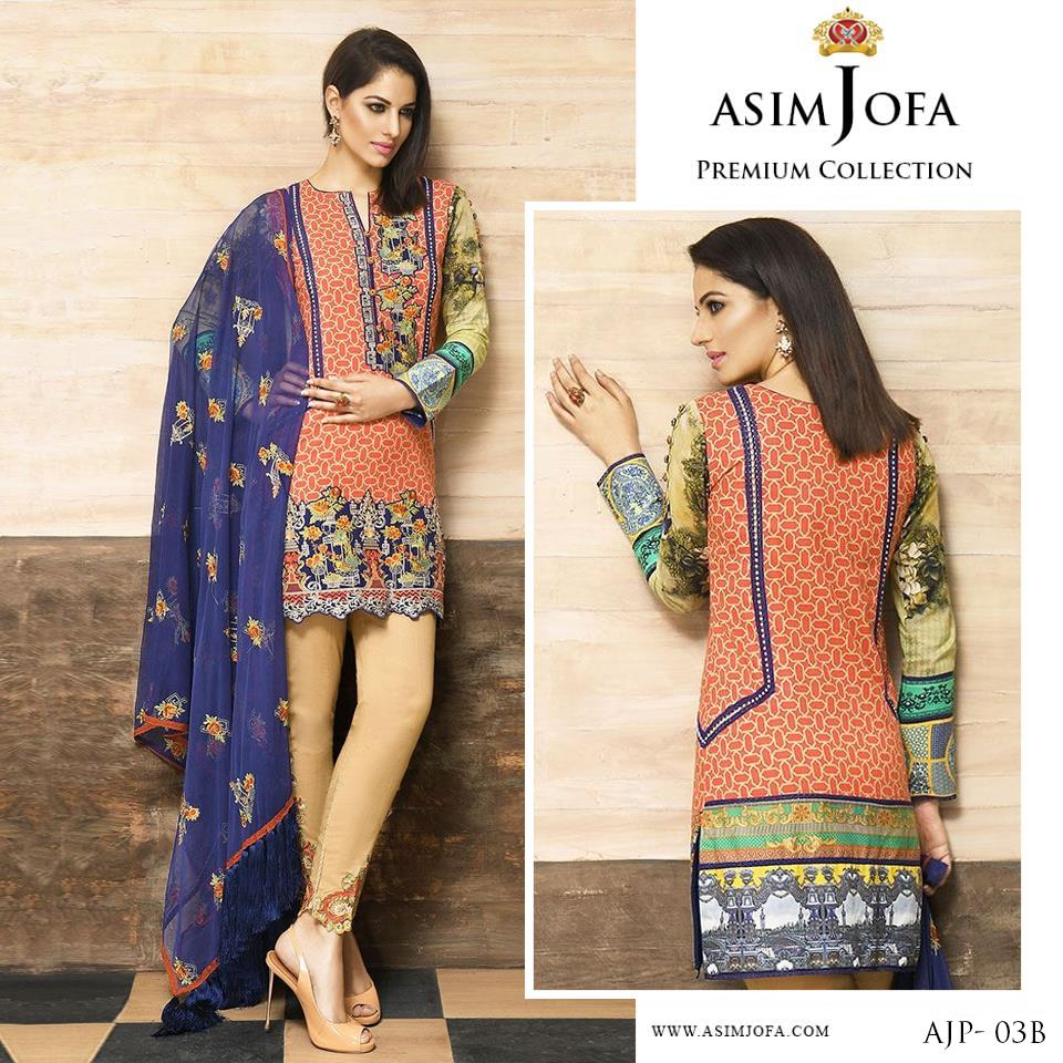Asim Jofa Latest Premium Luxury Lawn Dress Collection 2017