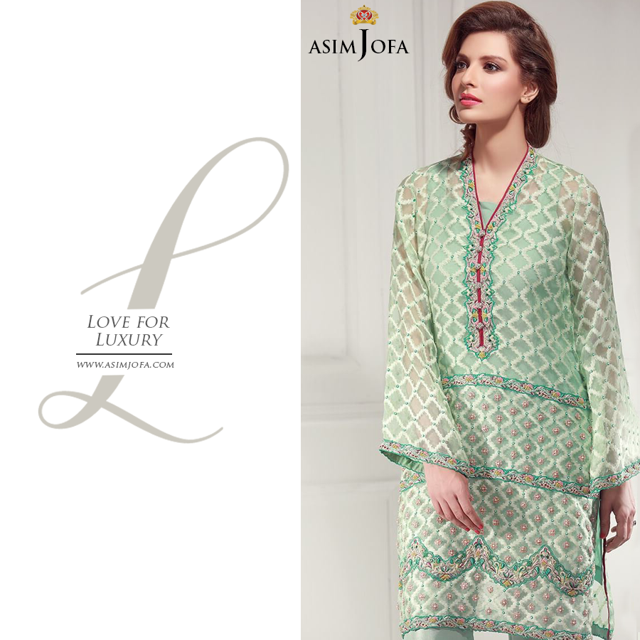 Asim Jofa Premium Luxury Lawn New Dress Summer Collection 2017