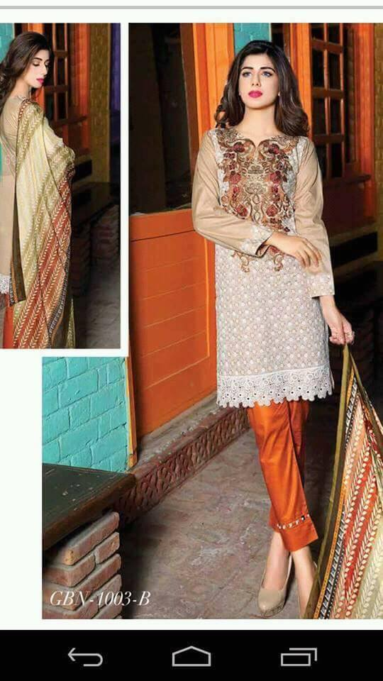 Gulkari Embroidered Lawn Dress Fall Summer Collection 2017