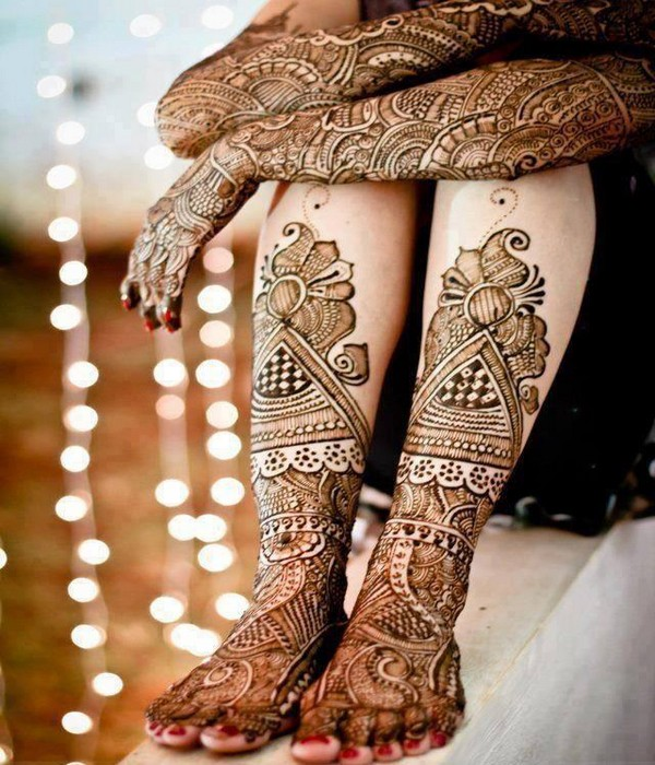 Mehndi Leg Designs : Beautiful wedding walima mehndi designs for bridal