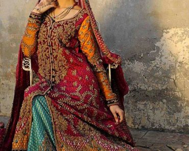 Maria B Latest Bridal Wear Embroider Dress Collection