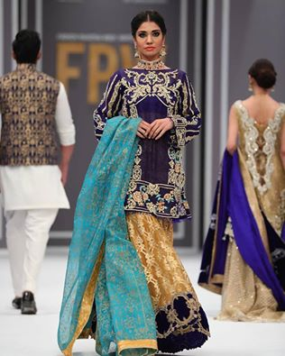 Embroidered Bridal Wear Dresses 2016 by Saira Rizwan