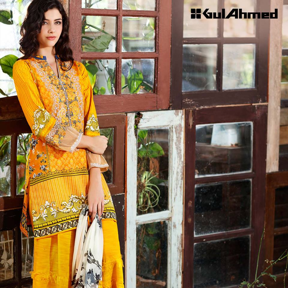 Gul Ahmad Winter Linen Collection 2016 Chic Trendy Unstitched