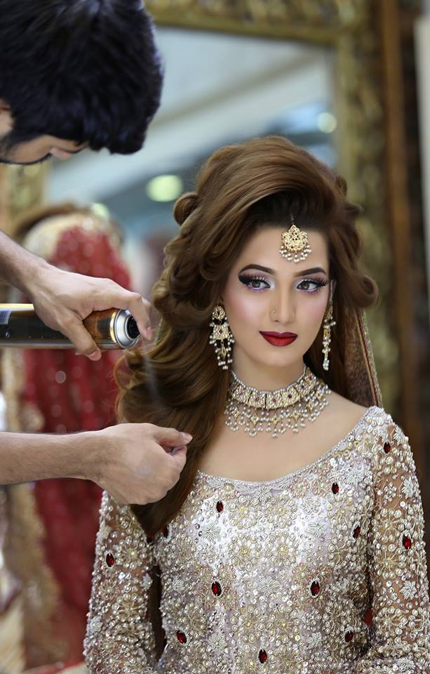 beautiful style hair kashee s beautiful bridal makeup amp hairstyle 3797