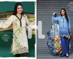 Nishat Winter Linen Stitched Dress Collection 2016-2017
