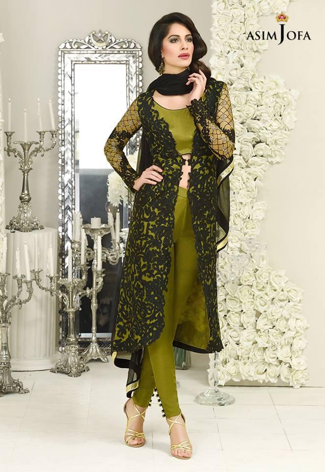Asim Jofa Wedding Wear Bridal Silk Chiffon New Dress 2017