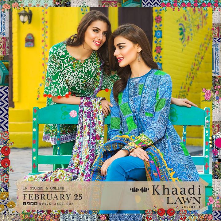 Khaadi Spring Summer Silk Outfits New Dresses Collection 2017