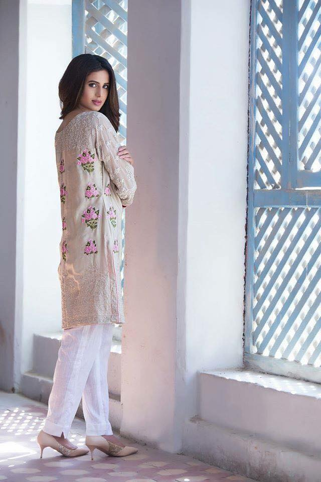 Areeba Saleem Kurti Range Summer Collection 2017