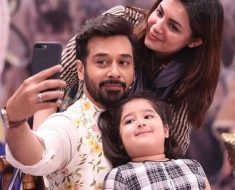 Faysal Quraishi with his family on 'Salam Zindagi'