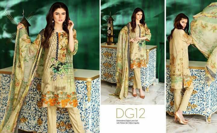Charizma Naranji Summer Lawn Collection 2017