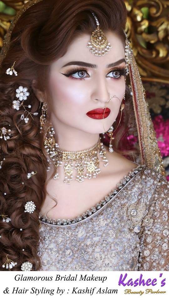 Beauty Parlour Bridal Makeup 2017 : Kashees Artist Bridal Makeup Beauty Parlour