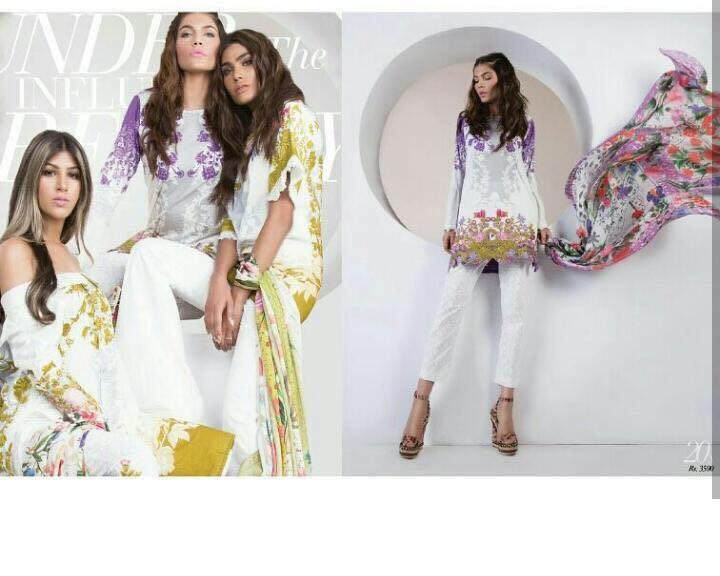 Muzlin by Sana Safinaz Summer Lawn Catalog
