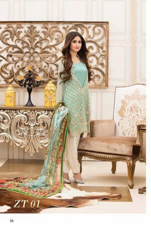 Teena Durrani Vol 5 Lawn Dress Formal Range