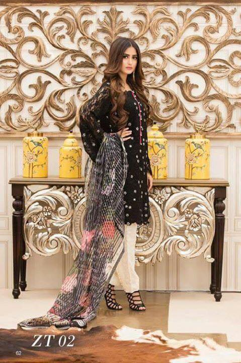 Teena Durrani Vol 5 Lawn Dress Formal Range