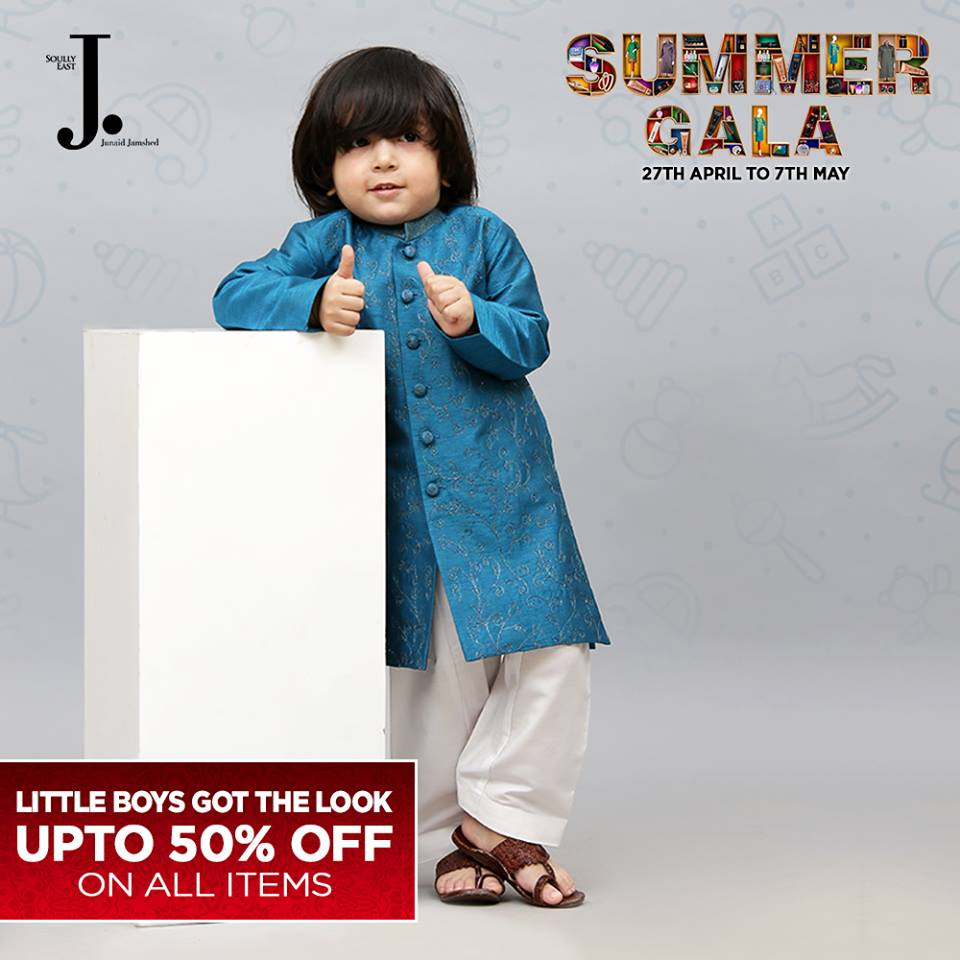 Junaid Jamshed Summer Gala Kids Collection 2017