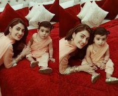 Beautiful Ayeza khan with Her Cute Daughter Hoorein