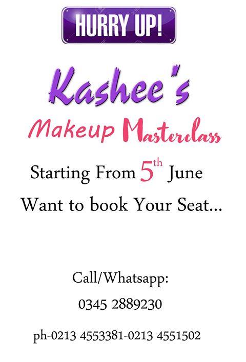 Kashee's – Artist Special 4-DAYS MAKEUP MASTERCLASS