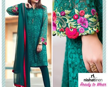 Nisha Eid Collection By Nishat Linen Chiffon Catalog 2017