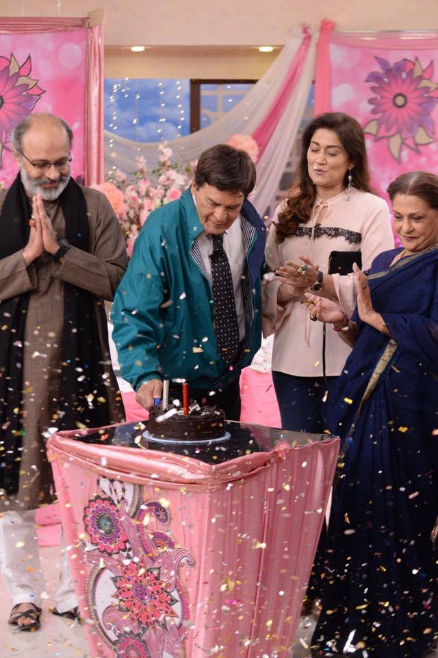 Qavi Khan's birthday celebration In Good Morning Pakistan