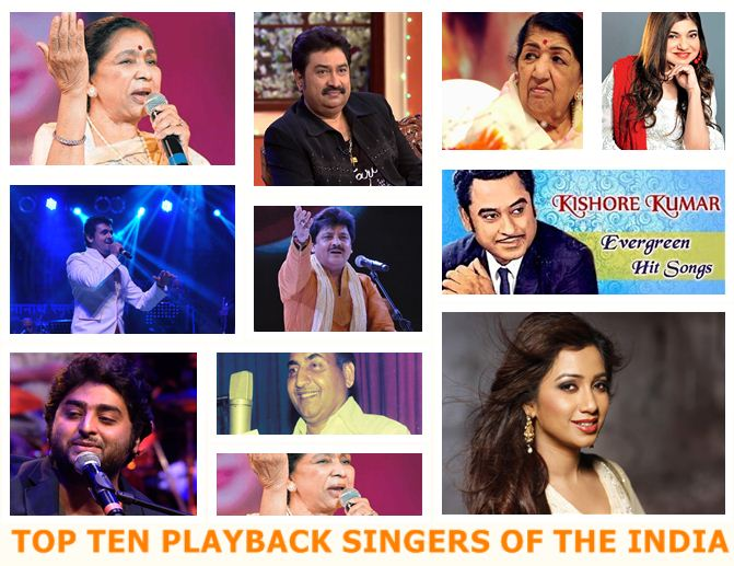 Famed Top Ten Playback Singers of the India