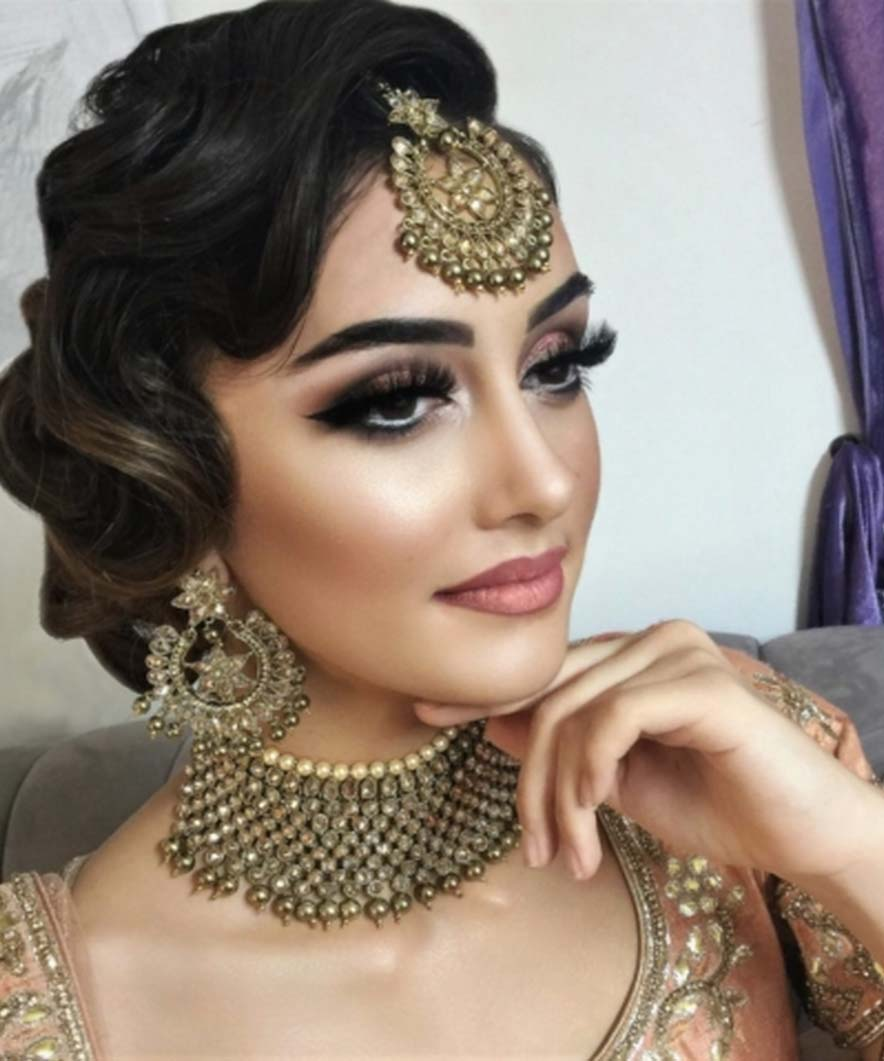 Pakistani bridal makeup and hairstyle pictures