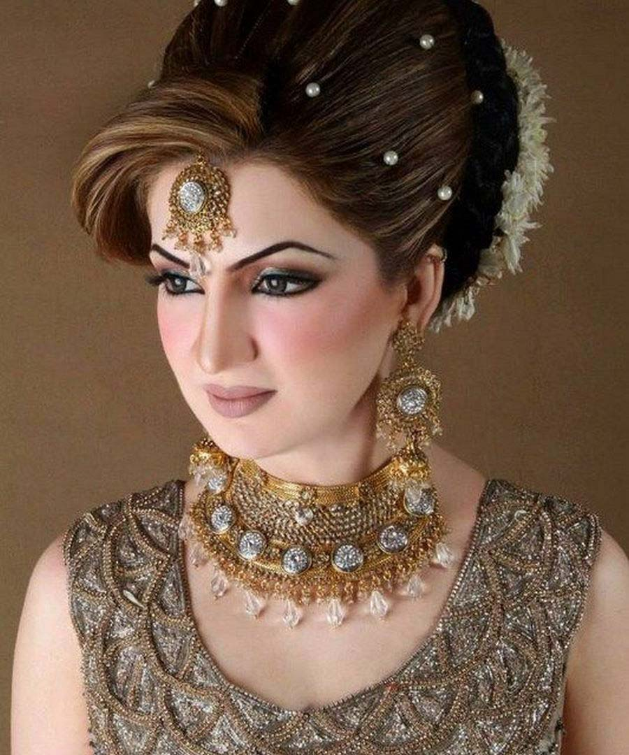 pakistani bridal makeup and hairstyle