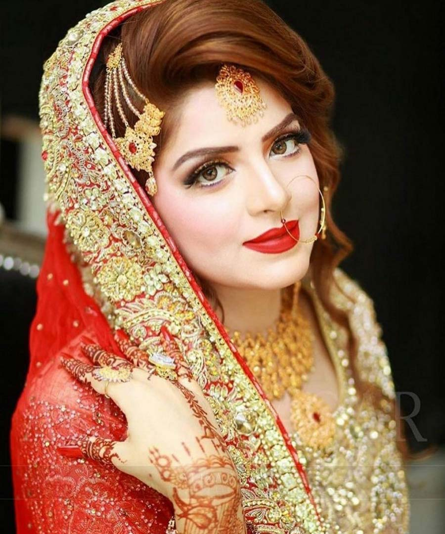 Wedding Hairstyle Pakistani: Upcoming Pakistani Wedding Bridal Makeup Ideas 2020